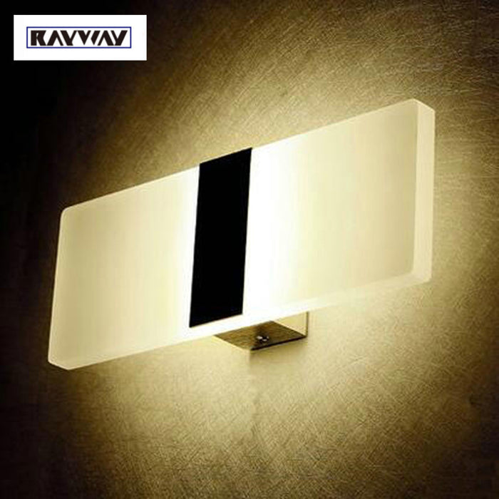 RAYWAY LED wall light 3W 6W Modern wall lamp AC 85-265V brief Personalized living sitting room foyer bedroom wall led lights
