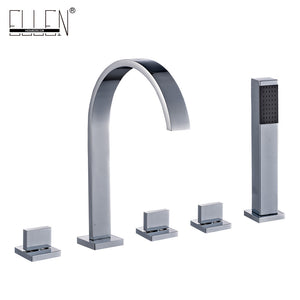 Mixer for bath square shower hotel brass bath tub faucet with hand shower