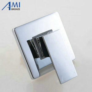 Concealed Shower Faucet Mixer faucet Valve In Wall mount Square shower Panel Chrome Brass Tap