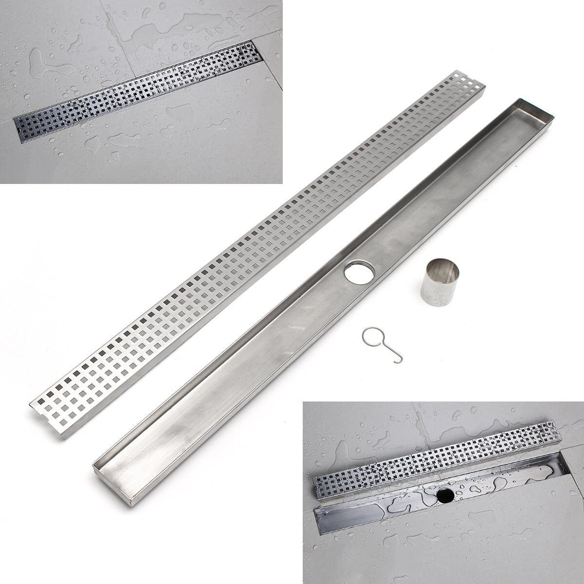 900mm Floor Drain Stainless Steel 304 Linear Shower Grate Floor