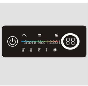 Digital shower controller thermostatic shower mixer touch shower faucet mixer digital display shower panel