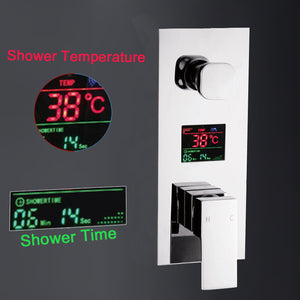 Digital wall mounted 2/3 way shower mixer controller with display concealed bath shower panel Intelligent shower mixer shower