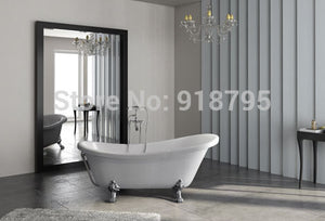 fiber glass+Acrylic bathtub with golden legs freestanding tub indoor spa with CUPC certificate RS6530