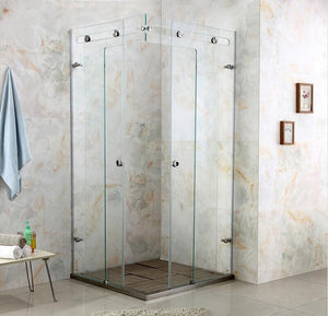Luxury crystal glass shower room shower cabin shower glass door shower enclosure customize size