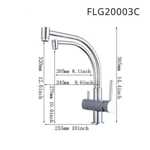 Kitchen Tap Faucets Selling None Torneiras Para Pia Cozinha Drinking Water Faucet for Filtered 3 Way Mixer Torneira Com Filtro