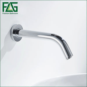 FLG bathroom faucet Cold Sensor Tap No Handle Automatic Water Faucet  Wall Mount Bathroom Basin Faucet
