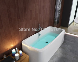 63' Sea Shipping freestanding bathtub and acrylic +ABS composite board Piscine soaking Hot tub W8006