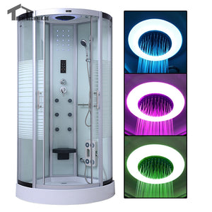 90cm steam shower cabin Cubicle Massage shower cabins bath douche cabine Bathroom Enclosure Bath Cabin Room Jetted  White 137