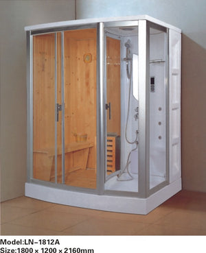 Luxury glass door sauna steam shower room