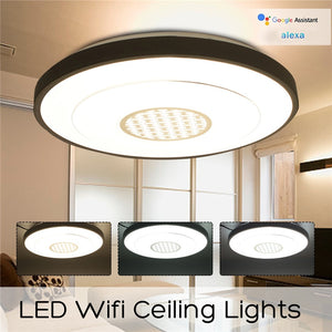 Indoor 36led LED Dimmable Lamp Ceiling Panel Down Light Fixture Wifi Control Google Alexa Bedroom Living Room