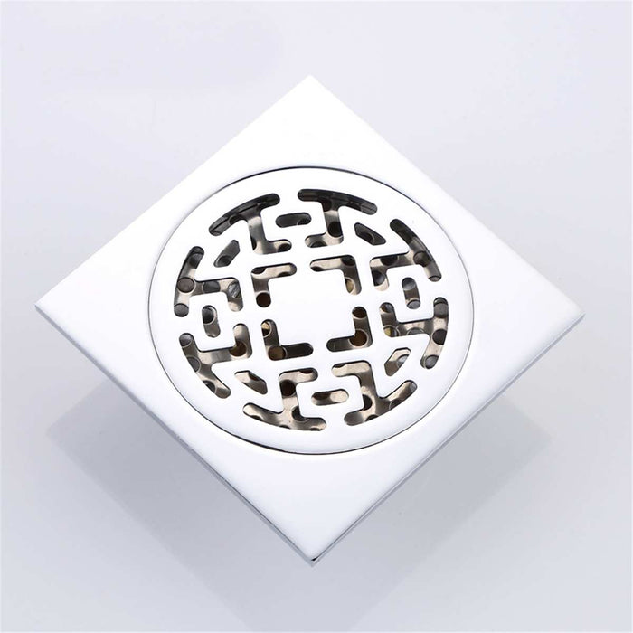 Stainless Steel Shower Floor Drain Cover Bathroom Strainer Grate Waste Filter Square Strainer Hair Catcher Fixture Accessories