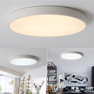 Retro LED Ceiling Light Acrylic Iron LED Round Ceiling Down Light Fixture Home Bedroom Living Room Kitchen Surface Mount Lamp