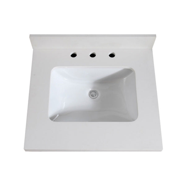 AV - FIXTURES / 25 in. White Quartz Top with Sink
