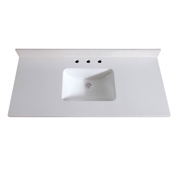 AV - FIXTURES / 49 in. White Quartz Top with Sink