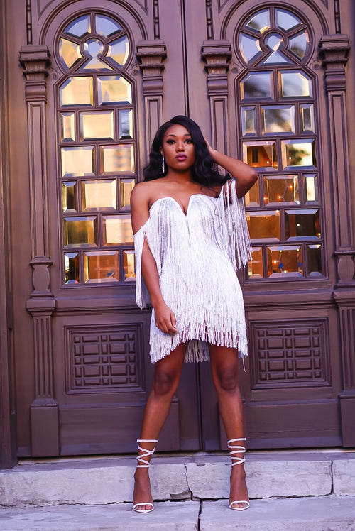 'Silver Bells' Fringe Dress