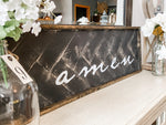 Amen Herringbone Sign 13x 48