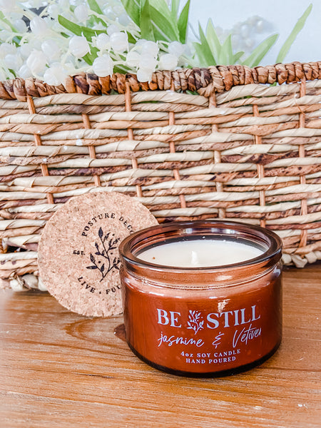BE STILL - Jasmine & Vetiver Soy Candle