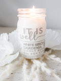 It is Well | White Birch & Gardenia