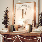 Oversized Boho Monogram | Magnolia White & Natural Wood