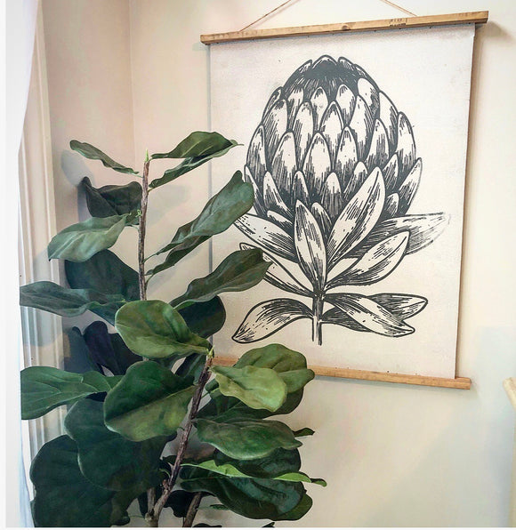Oversized Artichoke Farmhouse Style Wooden Scroll