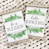 Hello Spring Wooden Scroll