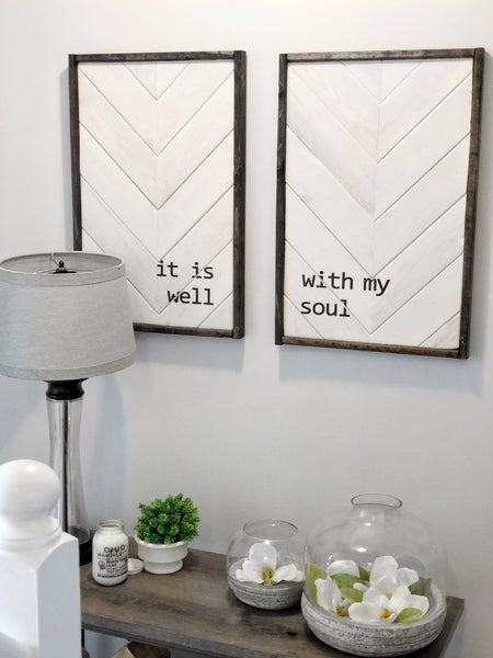 Magnolia White & Barnwood | It Is Well Set