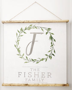Country Kitchen Monogram Wooden Scroll