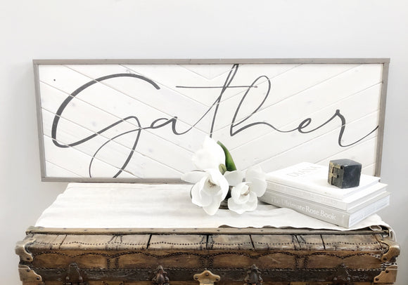 Gather | Magnolia White & Weathered Stone