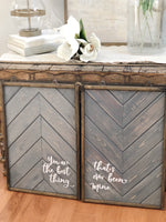 Rustic Grey & Barnwood Trim | You Are The Best Thing Set