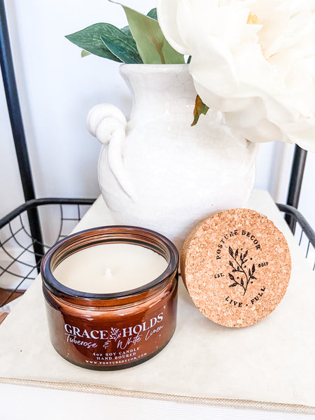GRACE HOLDS - Tuberose & Linen Soy Candle