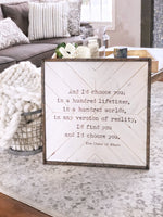 Magnolia White & Barnwood | The Chaos Of Stars Inlaid Wood Sign