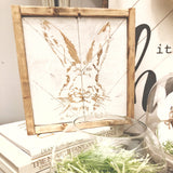Herringbone Vintage Easter Sign 10x10in