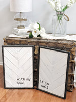 Magnolia White & Antique Black | It Is Well Set
