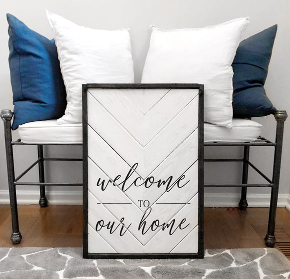 Magnolia White & Antique Black | Welcome To Our Home