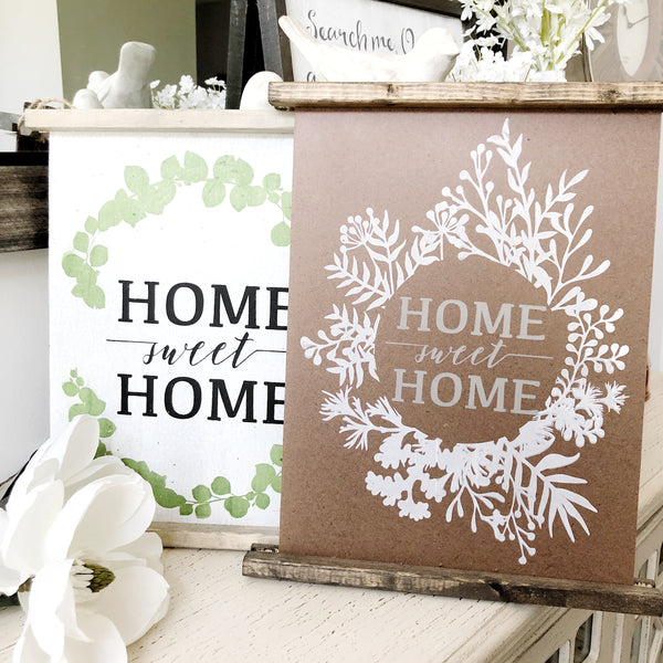 Home Sweet Home 8x12 Wooden Scroll