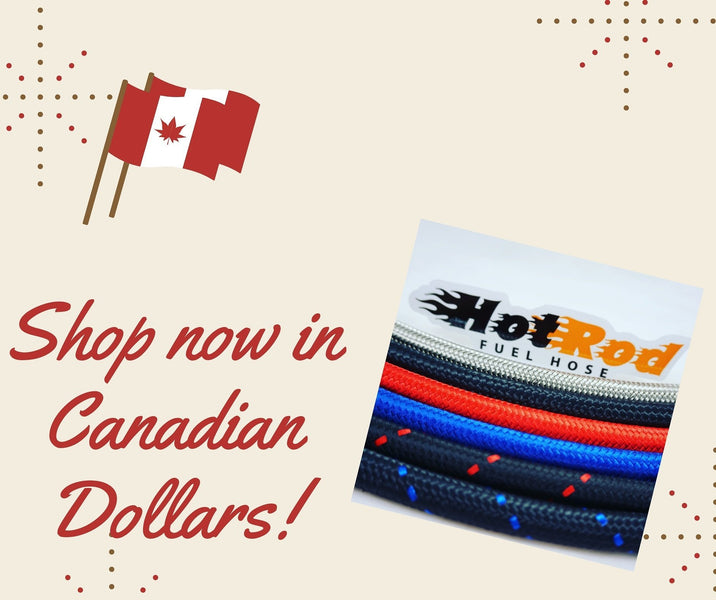 Ordering AN PTFE hose and AN fittings in Canada