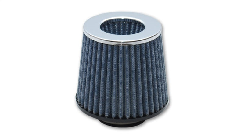 Vibrant Open Funnel Perf Air Filter (5in Cone O.D. x 5in Tall x 2.5in inlet I.D.) Chrome Filter Cap