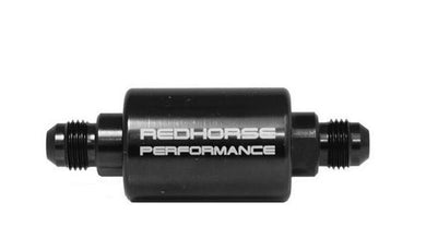 100 Micron Inline fuel filter - Use pre-pump Redhorse - Hot Rod fuel hose by One Guy Garage