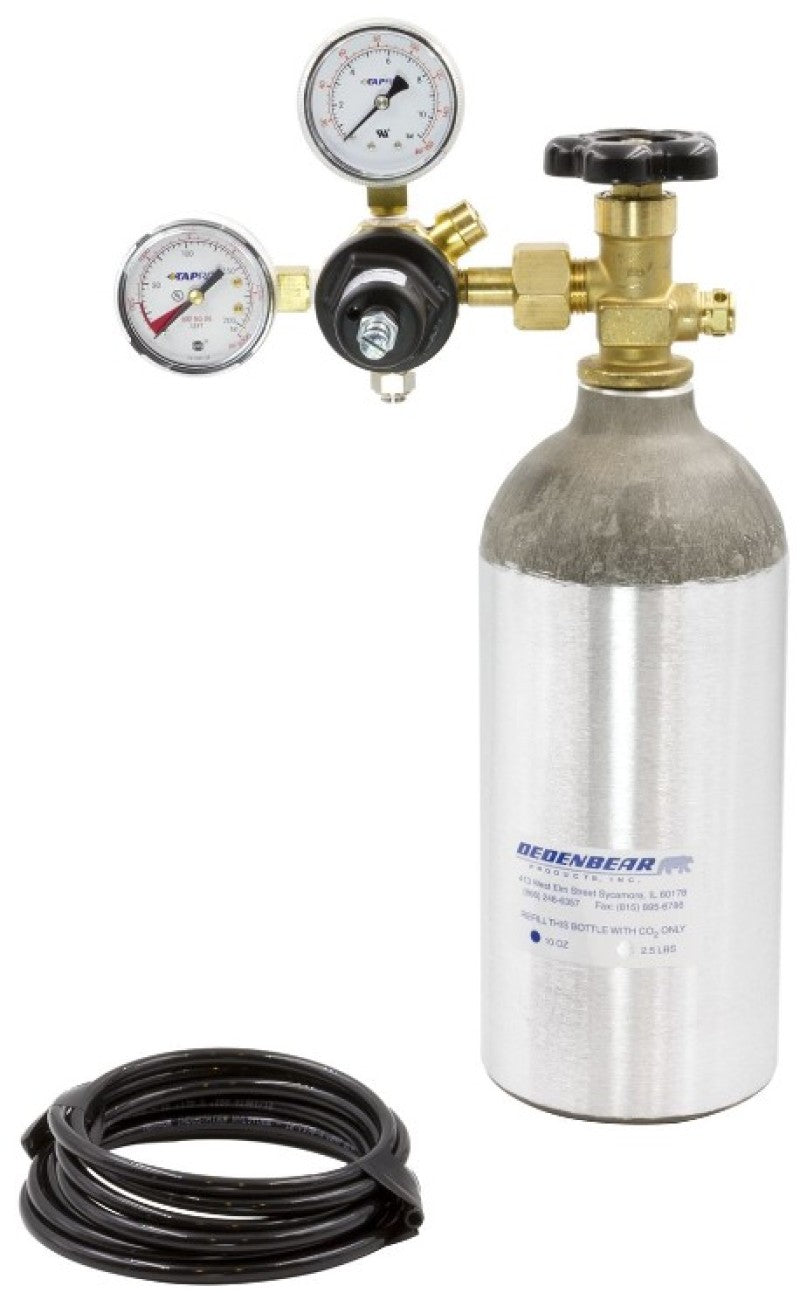 Autometer CO2 Complete Bottle Kit - 2.5lb Bottle/Valve/Regulator/Tubing