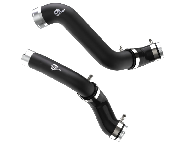 aFe BladeRunner Black Intercooler Hot & Cold Side Tubes Combo 19-20 GM Trucks 1500 L4-2.7L (t)