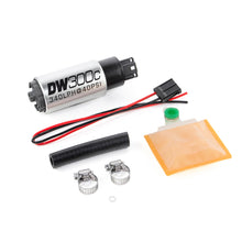 Load image into Gallery viewer, DeatschWerks 340lph DW300C Compact Fuel Pump w/ Universal Install Kit (w/o Mounting Clips)