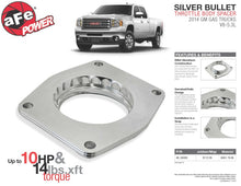Load image into Gallery viewer, aFe Silver Bullet Throttle Body Spacers TBS 2014 GM Silverado/Sierra 1500 V8 5.3L