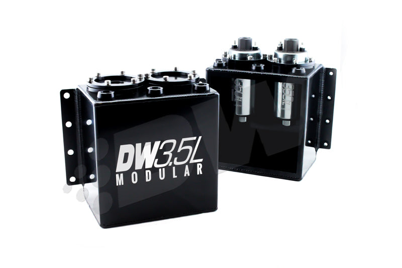 DeatschWerks 3.5L Modular Surge Tank (Fits 1-2 DW350iL Fuel Pumps - Pumps Not Included)