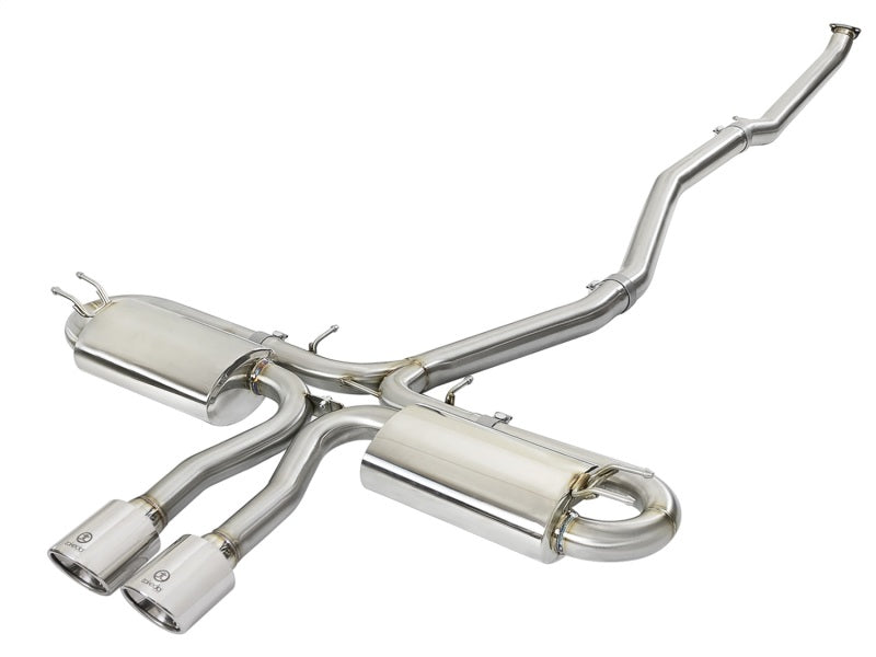 aFe Takeda 3in 304 SS Cat-Back Exhaust System w/Polished Tips 2017+ Honda Civic Si (4dr) I4 1.5L (t)
