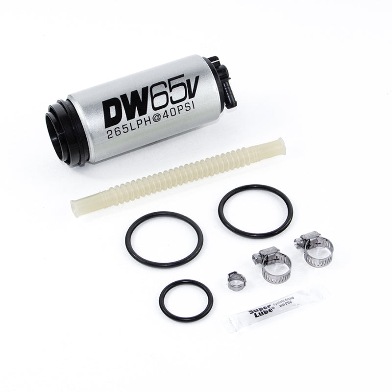 DeatschWerks DW65v Series 265 LPH Compact In-Tank Fuel Pump w/ VW/Audi 1.8T FWD Set Up Kit