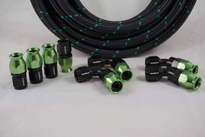 PTFE hose green and black by hot rod fuel hose