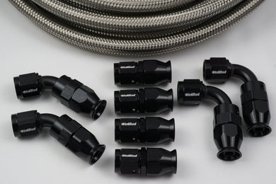 AN-6 Stainless PTFE Hose and 8 Fittings Bundle Deal - Hot Rod fuel hose by One Guy Garage