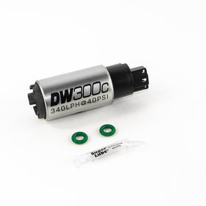 DeatschWerks 340lph DW300C Compact Fuel Pump w/ 02-06 RSX Set Up Kit (w/o Mounting Clips)