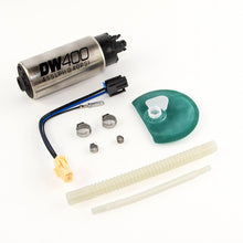 Load image into Gallery viewer, DeatschWerks 415LPH DW400 Fuel Pump w/9-1047 Install Kit 15-17 Ford Mustang V6/GT w/ 1/8in Venturi