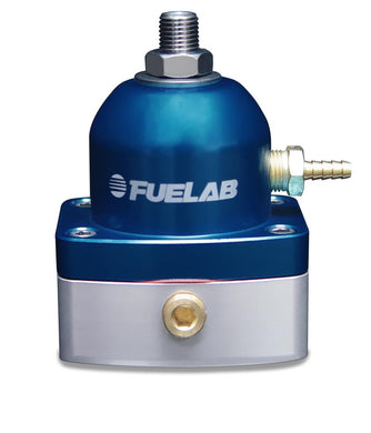 Fuelab 535 EFI Adjustable Mini FPR 25-90 PSI (2) -6AN In (1) -6AN Return - Blue - Hot Rod fuel hose by One Guy Garage